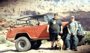 Big Dave, Gunner and I at the top of Cliffhanger during Jeep Safari of 2004, just a couple months before Big Dave gave Gunner to me
