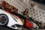 It's hard to beat this line of exotic imports, cars and girls included.